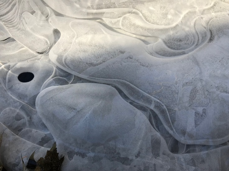 swirly patterns in ice