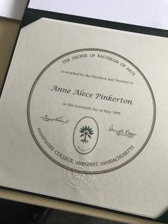Hampshire College diploma